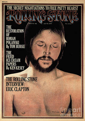 Eric Clapton Wall Art - Photograph - Rolling Stone Cover - Volume #165 - 7/18/1974 - Eric Clapton by Philip Hays