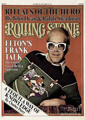 Elton John Wall Art - Photograph - Rolling Stone Cover - Volume #223 - 10/7/1976 - Elton John by David Nutter