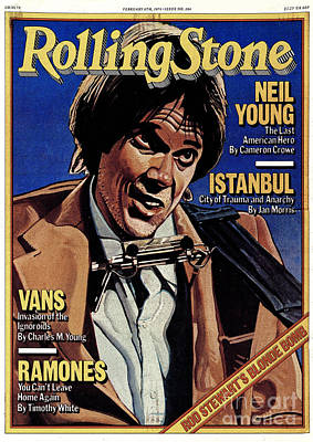 Neil Young Wall Art - Photograph - Rolling Stone Cover - Volume #284 - 2/8/1979 - Neil Young by Julian Allen