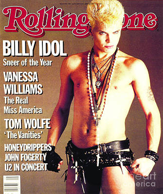 Billy Idol Wall Art - Photograph - Rolling Stone Cover - Volume #440 - 1/31/1985 - Billy Idol by E.J. Camp