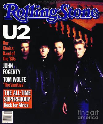 U2 Wall Art - Photograph - Rolling Stone Cover - Volume #443 - 3/15/1985 - U2 by Rebecca Blake