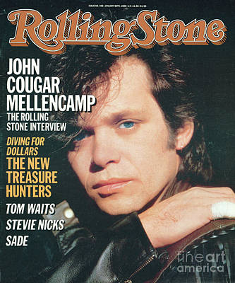 Cougar Wall Art - Photograph - Rolling Stone Cover - Volume #466 - 1/30/1986 - John Cougar Mellencamp by Herb Ritts