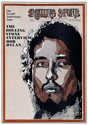 Bob Dylan Wall Art - Photograph - Rolling Stone Cover - Volume #47 - 11/29/1969 - Bob Dylan by Unknown