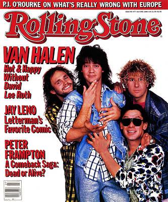 Van Halen Wall Art - Photograph - Rolling Stone Cover - Volume #477 - 7/3/1986 - Van Halen by Deborah Feingold
