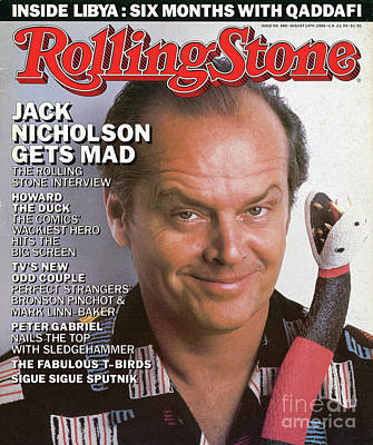 Jack Nicholson Wall Art - Photograph - Rolling Stone Cover - Volume #480 - 8/14/1986 - Jack Nicholson by Herb Ritts