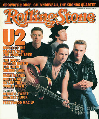 Rolling Stone Cover - Volume #499 - 5/7/1987 - U2 Art Print