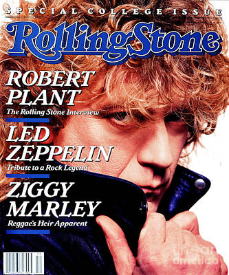 Robert Plant Wall Art - Photograph - Rolling Stone Cover - Volume #522 - 3/24/1988 - Robert Plant by David Montgomery