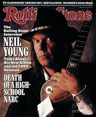 Neil Young Wall Art - Photograph - Rolling Stone Cover - Volume #527 - 6/2/1988 - Neil Young  by William Coupon