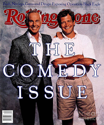 Rolling Stone Cover - Volume #538 - 11/3/1988 - Johnny Carson And David Letterman Art Print