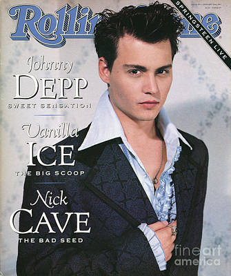 Johnny Depp Wall Art - Photograph - Rolling Stone Cover - Volume #595 - 1/10/1991 - Johnny Depp by Herb Ritts