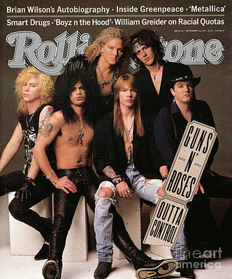 Music Wall Art - Photograph - Rolling Stone Cover - Volume #612 - 9/5/1991 - Guns 'n Roses by Herb Ritts