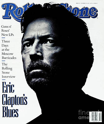 Eric Clapton Wall Art - Photograph - Rolling Stone Cover - Volume #615 - 10/17/1991 - Eric Clapton by Albert Watson