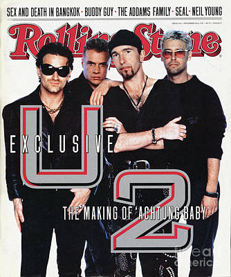Rolling Stone Cover - Volume #618 - 11/28/1991 - U2 Art Print