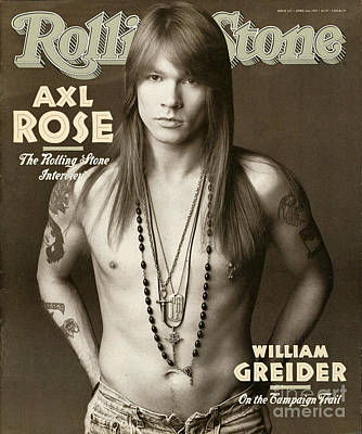 Floral Wall Art - Photograph - Rolling Stone Cover - Volume #627 - 4/2/1992 - Axl Rose by Herb Ritts