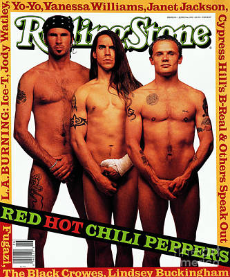 Red Hot Chili Peppers Wall Art - Photograph - Rolling Stone Cover - Volume #633 - 6/23/1992 - Red Hot Chili Peppers  by Mark Seliger