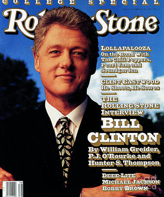 Bill Clinton Wall Art - Photograph - Rolling Stone Cover - Volume #639 - 9/17/1992 - Bill Clinton by Mark Seliger