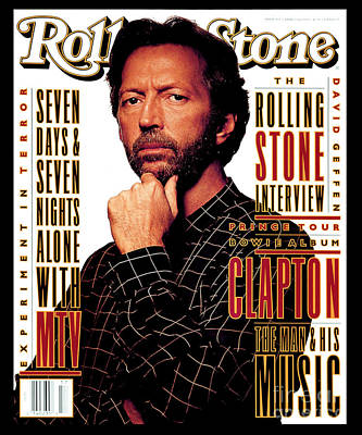 Eric Clapton Wall Art - Photograph - Rolling Stone Cover - Volume #655 - 4/29/1993 - Eric Clapton by Albert Watson