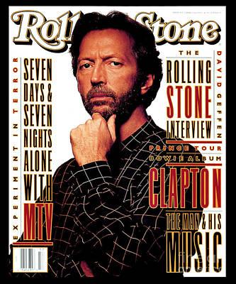 Rolling Stone Cover - Volume #655 - 4/29/1993 - Eric Clapton Art Print