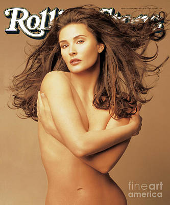 Moore Wall Art - Photograph - Rolling Stone Cover - Volume #701 - 2/9/1995 - Demi Moore by Matthew Rolston