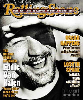 Van Halen Wall Art - Photograph - Rolling Stone Cover - Volume #705 - 4/6/1995 - Eddie Van Halen by Mark Seliger