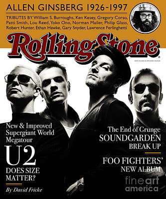 U2 Wall Art - Photograph - Rolling Stone Cover - Volume #761 - 5/29/1997 - U2 by Albert Watson