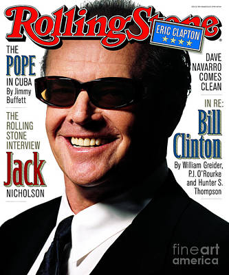 Celebrities Wall Art - Photograph - Rolling Stone Cover - Volume #782 - 3/19/1998 - Jack Nicholson by Albert Watson