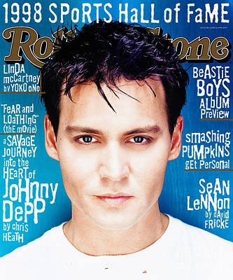 Johnny Depp Wall Art - Photograph - Rolling Stone Cover - Volume #788 - 6/2/1998 - Johnny Depp by Dan Winters