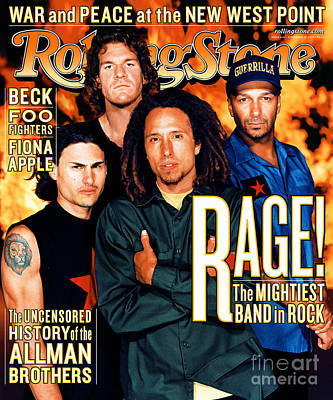 Machinery Wall Art - Photograph - Rolling Stone Cover - Volume #826 - 11/25/1999 - Rage Against The Machine by Martin Schoeller
