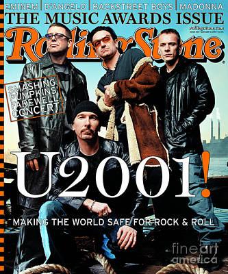 Rolling Stone Cover - Volume #860 - 1/18/2001 - U2 Art Print