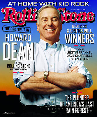 Rolling Stone Cover - Volume #941 - 2/5/2004 - Howard Dean Art Print