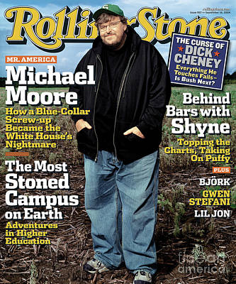 Moore Wall Art - Photograph - Rolling Stone Cover - Volume #957 - 9/16/2004 - Michael Moore by Albert Watson