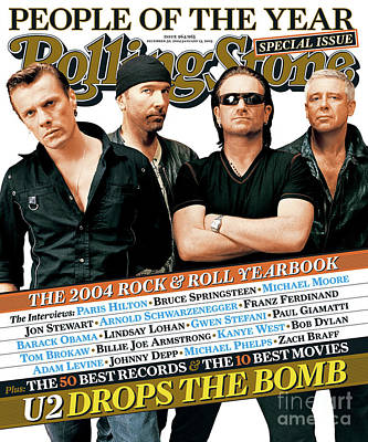 U2 Wall Art - Photograph - Rolling Stone Cover - Volume #965 - 12/30/2004 - U2 by Ruven Afanador