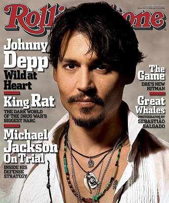 Johnny Depp Wall Art - Photograph - Rolling Stone Cover - Volume #967 - 2/10/2005 - Johnny Depp by Albert Watson