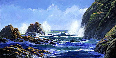 Painting - Rolling Surf by Frank Wilson