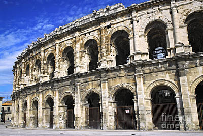France Provence Photograph - Roman Arena In Nimes France by Elena Elisseeva