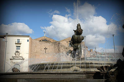 Fountain Photograph - Roman Baths by Kevin Flynn