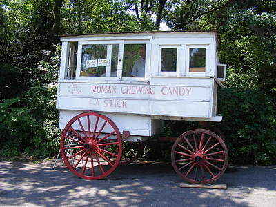 Roman Candy Cart Photograph - Roman Candy Wagon by Renee Barnes