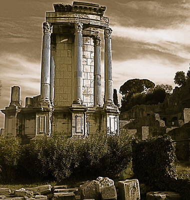 Art Print featuring the photograph Roman Column by Blake Yeager