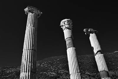 Caravaggio - Roman Columns. by Terence Davis