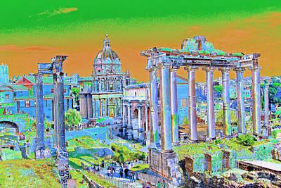Photograph - Roman Forum 2 by Eva Kaufman