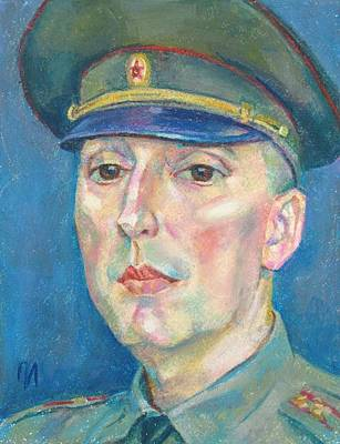 Russia Painting - Roman Karetnikov by Leonid Petrushin