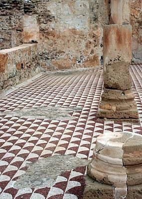 Roman Mosaic At Villa Sileen, Libya Art Print