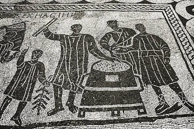 Halls Harbour Photograph - Roman Mosaic, Ostia Antica by Sheila Terry