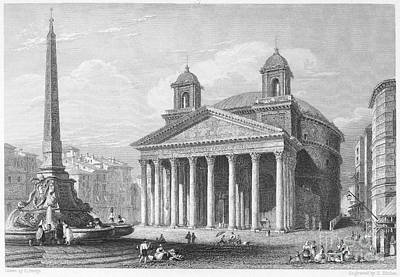 Roman Pantheon, 1833 Art Print by Granger