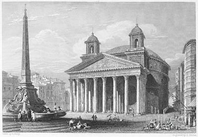 1833 Photograph - Roman Pantheon, 1833 by Granger