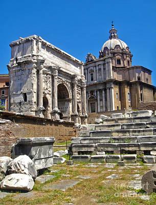 Roman Ruins - Roman Forum Art Print by Gregory Dyer
