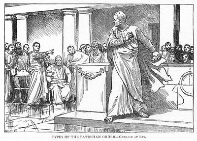 Roman Senate: Catiline Art Print by Granger