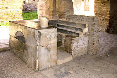 Commercial Archeology Photograph - Roman Tavern, Ostia Antica by Sheila Terry