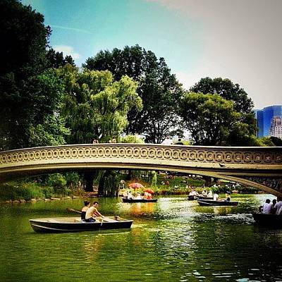 Boat Photograph - Romance - Central Park - New York City by Vivienne Gucwa