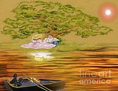 Painting - Romance On The Lake by Belinda Threeths